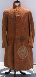 Textile - A woven wool coat made for the Qajar market.